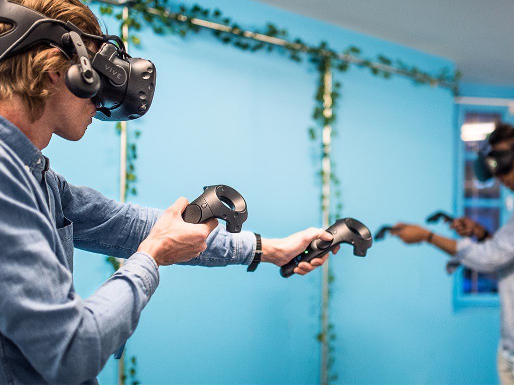 Zone de jeux en réalité virtuelle attractions area