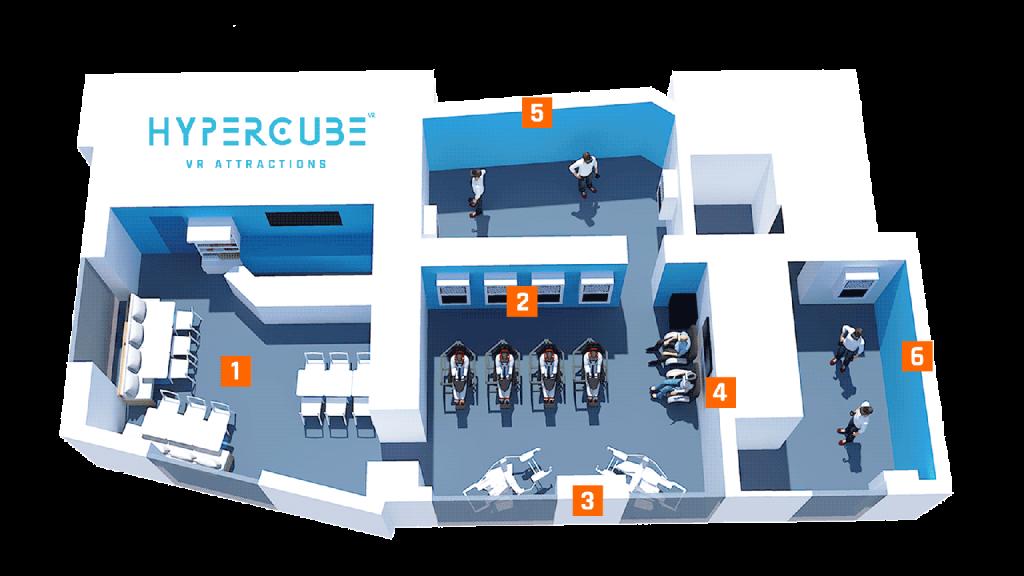Plan salle réalité virtuelle hypercubevr