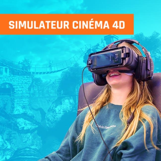 Simulateur cinéma 4D réalité virtuelle vr