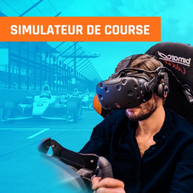 Simulateur de course vr réalité virtuelle